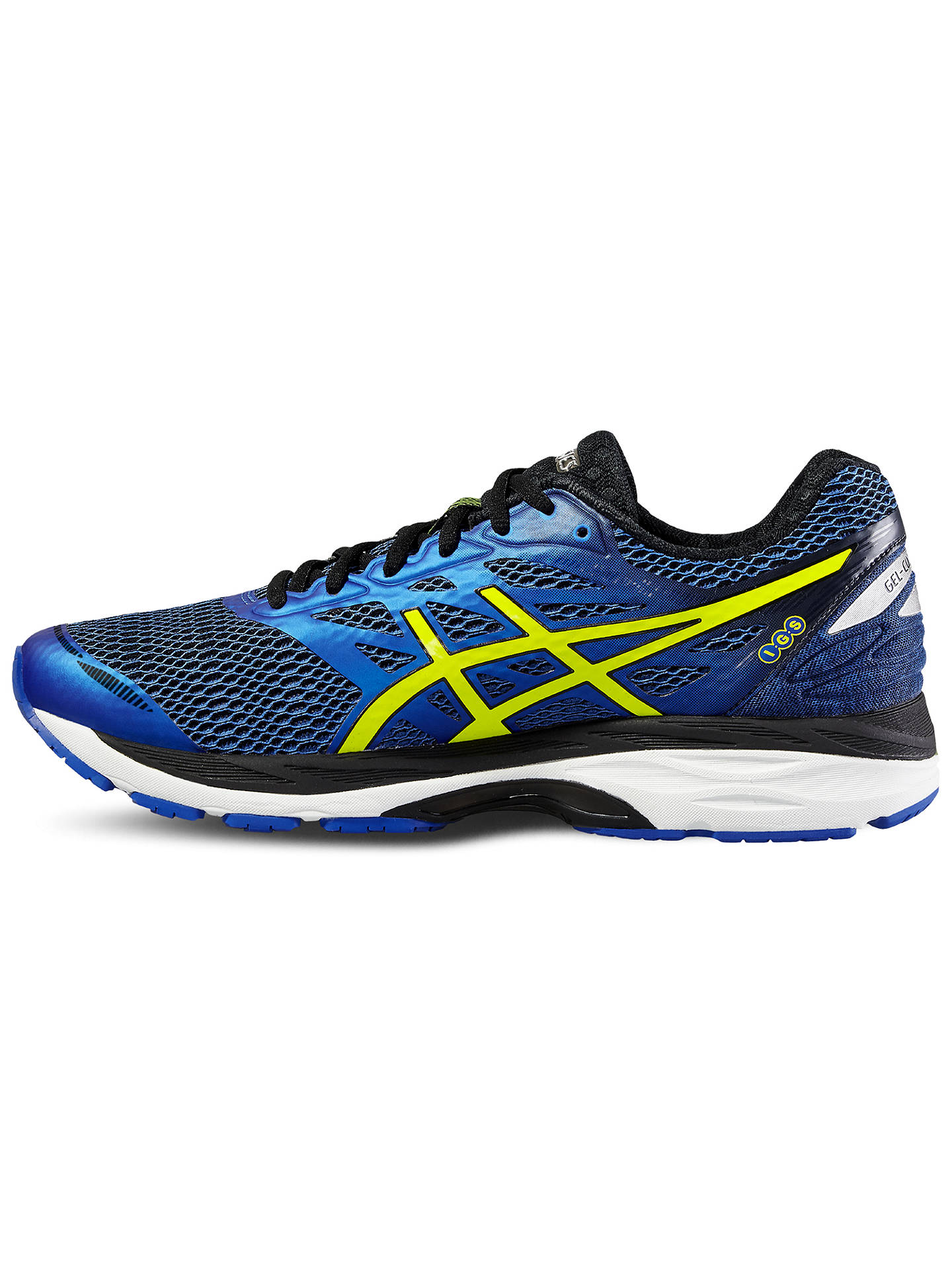 525a8a109 Buy Asics Gel-Cumulus 18 Men's Running Shoes, Blue/Yellow, 10 Online ...