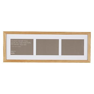 John Lewis Multi-aperture Oak Photo Frame, 3 Photo, 5 x 7 (13 x 18cm)