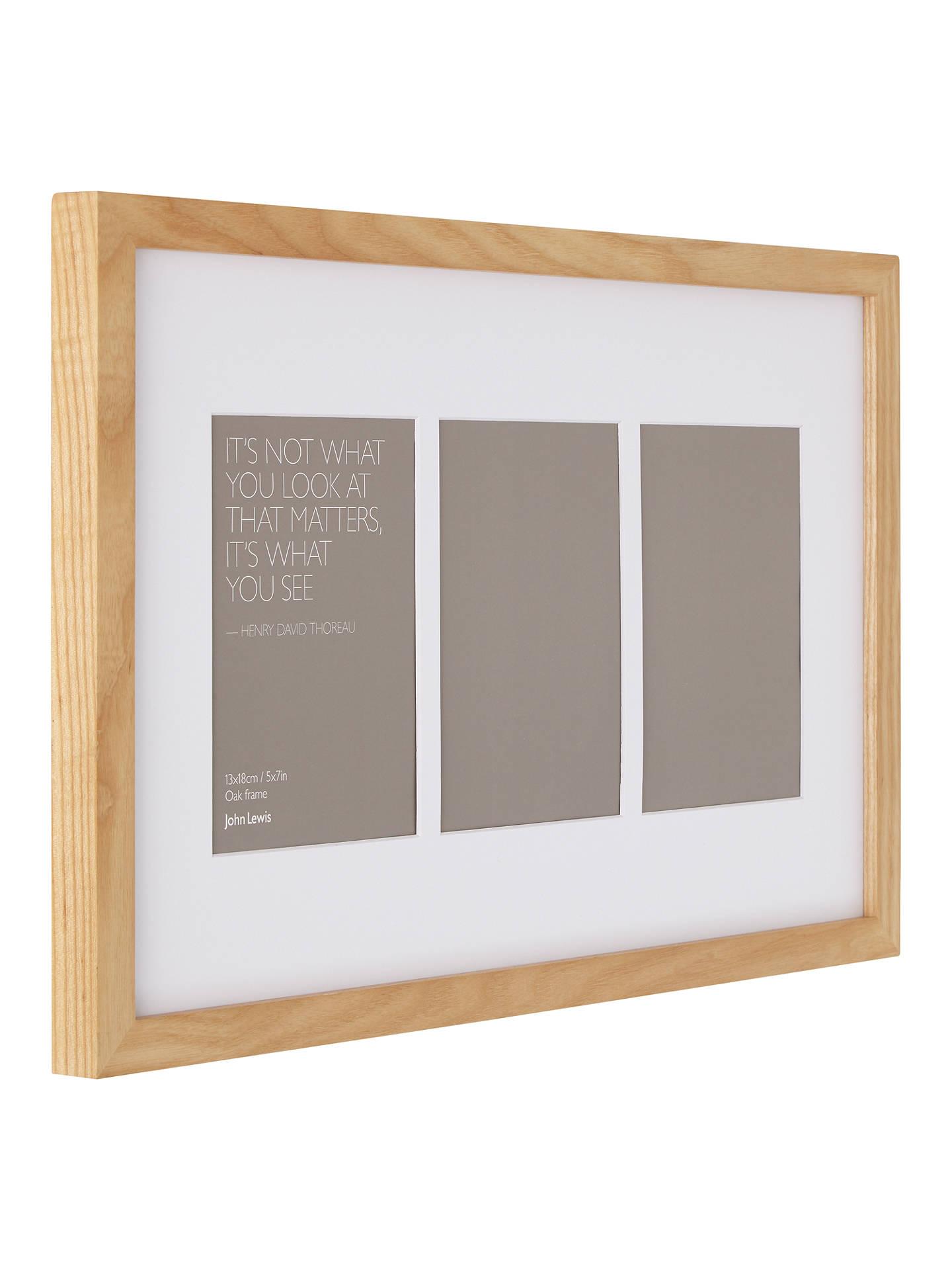 John Lewis & Partners Multi-aperture Box Photo Frame, 3 Photo, 4 x 6 ...