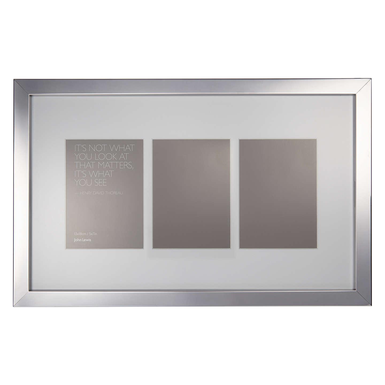 Buyjohn Lewis Multi Aperture Box Photo Frame, 3 Photo, 4 X