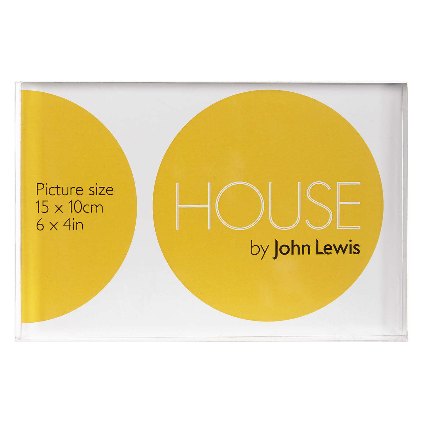 house by john lewis acrylic frame 4 x 6 clear at john lewis. Black Bedroom Furniture Sets. Home Design Ideas