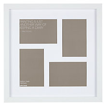 "Buy John Lewis Multi-aperture Square Box Photo Frame, 4 Photo, 4 x 6"" (10 x 15cm) Online at johnlewis.com"