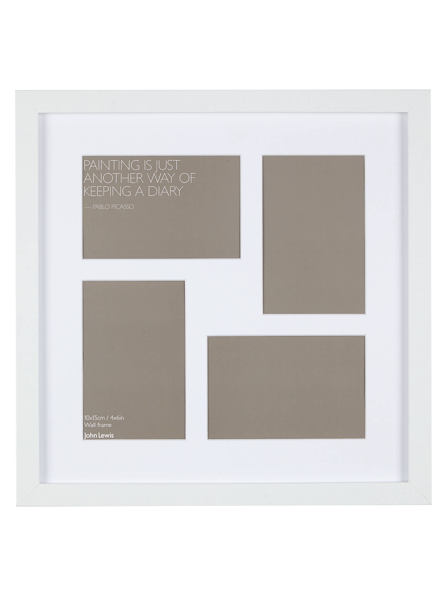 John Lewis Multi-aperture Square Box Photo Frame, 4 Photo, 4 x 6 ...