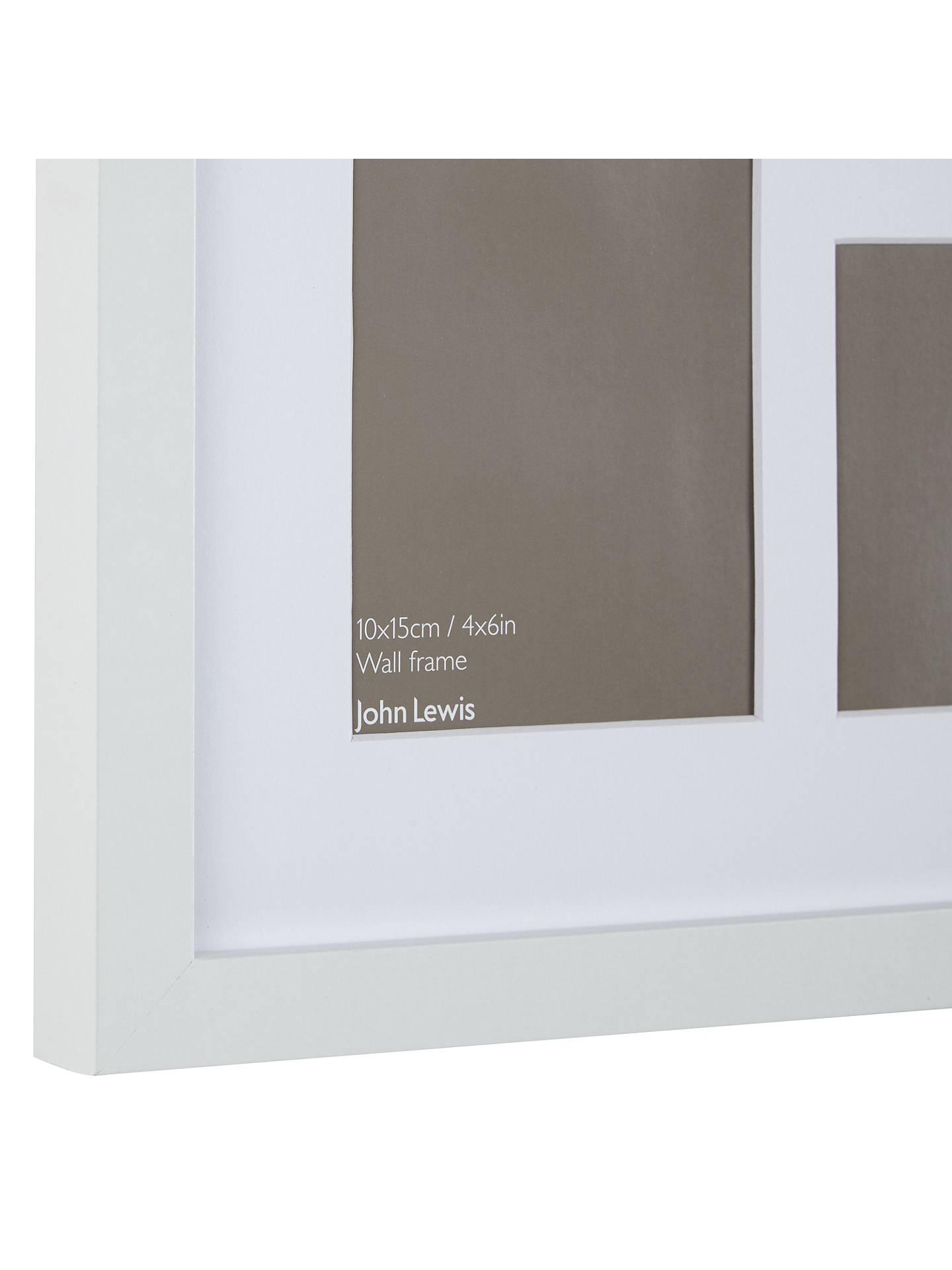 John Lewis Multi Aperture Square Box Photo Frame 4 Photo 4 X 6