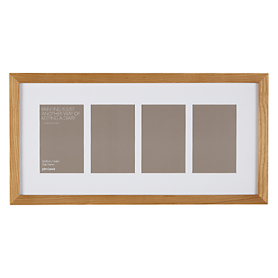 John Lewis Multi-aperture Oak Photo Frame, 4 Photo, 4 x 6 (10 x 15cm)
