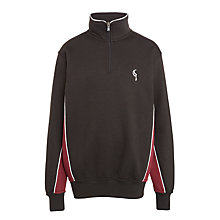 Buy Birchwood School Unisex 1/4 Zip Sweatshirt, Black Online at johnlewis.com