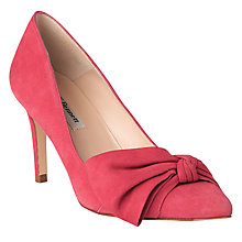 Buy L.K. Bennett Caitlyn Bow Stiletto Heeled Court Shoes, Cherry Online at johnlewis.com