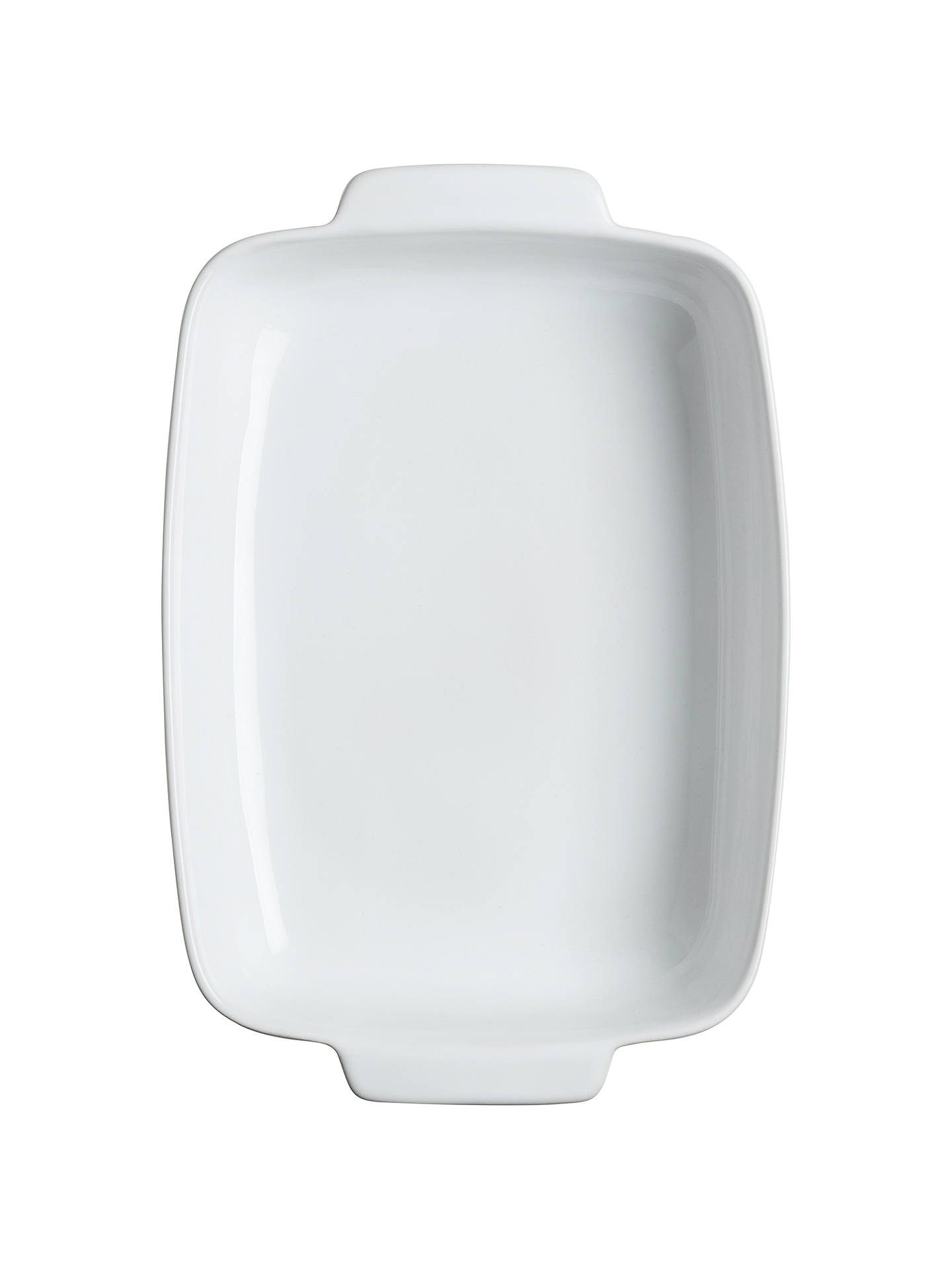 Buy Pyrex Signature Ceramic Rectangular Roaster Oven Dish, White, L35 x W25cm Online at johnlewis.com