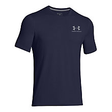Buy Under Armour Charged Cotton Sportstyle T-Shirt, Blue Online at johnlewis.com