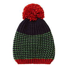 Buy John Lewis Children's Chevron Stripe Beanie Hat, Green Online at johnlewis.com