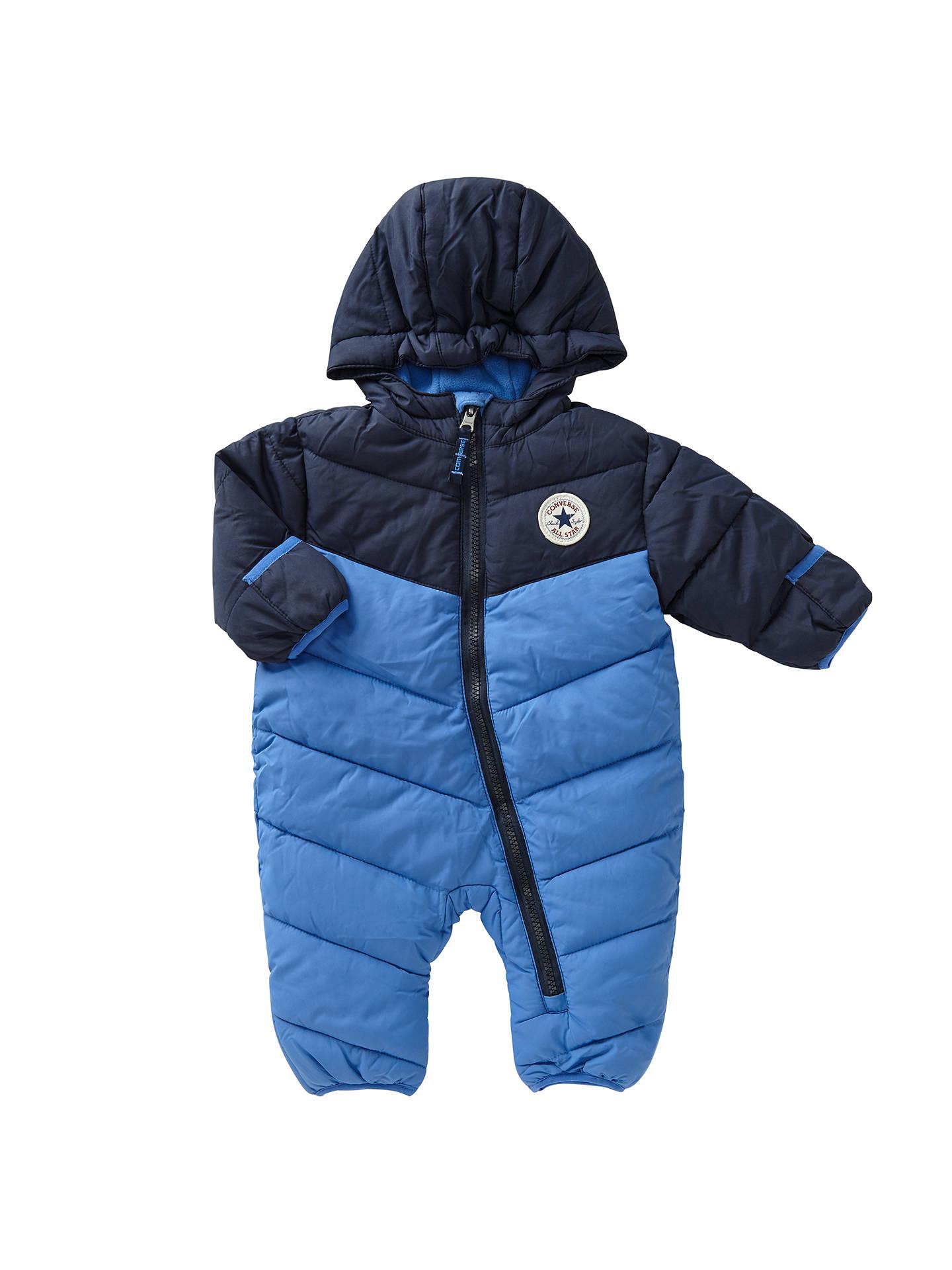 Converse Baby Colour Block Snowsuit Oxygen Blue At John Lewis