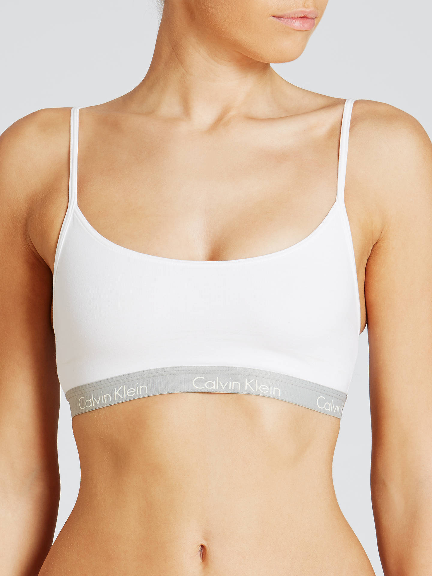 BuyCalvin Klein Underwear CK One Cotton Bralette, White, S Online at  johnlewis.com ... e9c1545e33b5