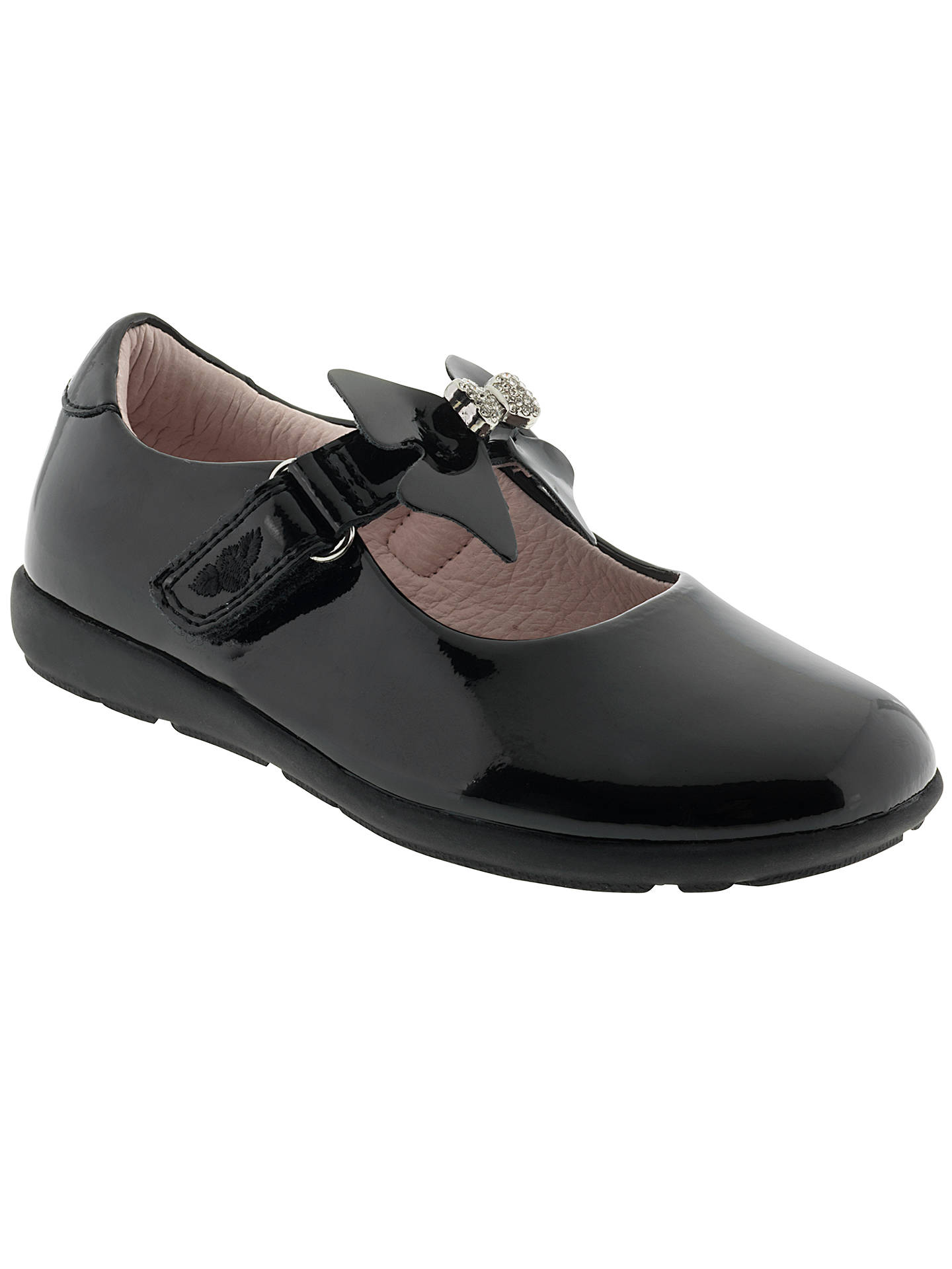 limited guantity uk store super specials Lelli Kelly Charlotte Leather School Shoes, Black Patent at John ...