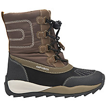 Buy Geox Children's Orizont ABX Lace Boots, Brown Online at johnlewis.com