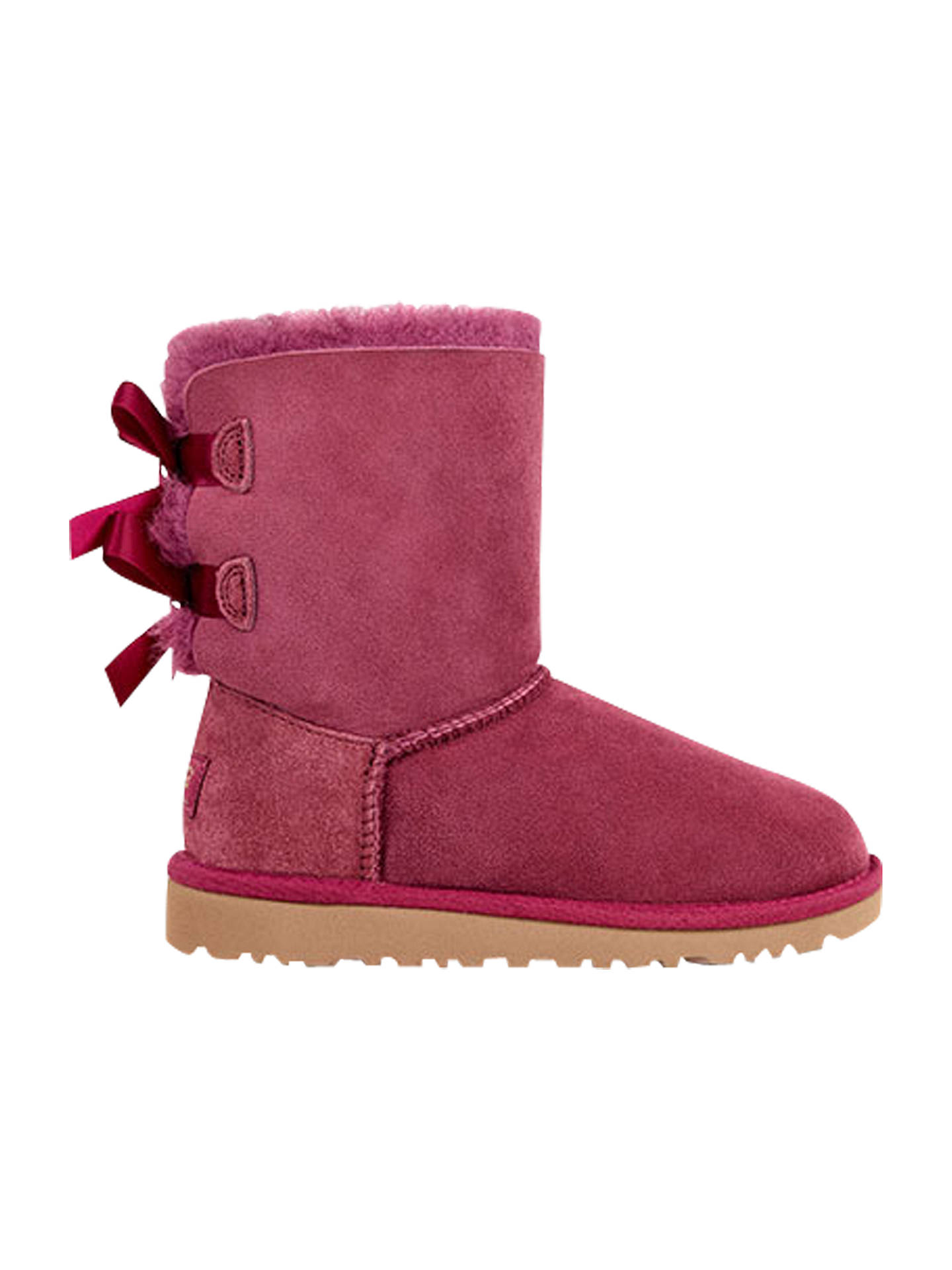 a9e93195f40 UGG Children's Bailey Bow Boots, Bougainvillea at John Lewis & Partners