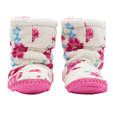 Buy Joules Children's Padabout Floral Slippers, Cream Online at johnlewis.com
