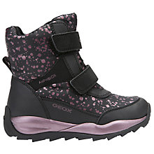 Buy Geox Children's Orizont ABX DV Strap Boots, Black Online at johnlewis.com