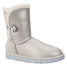 Buy UGG Children's Disney Arendelle Suede Boots, Ice Silver Online at johnlewis.com