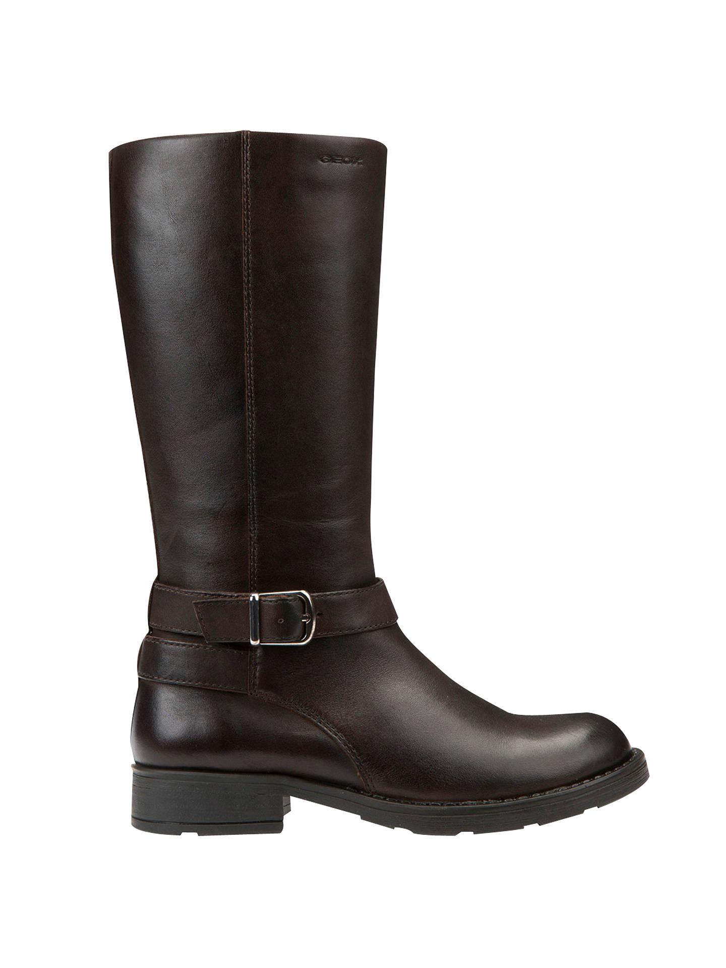6b79c8b7 Geox Children's Jr Sofia Leather Boots, Coffee at John Lewis & Partners