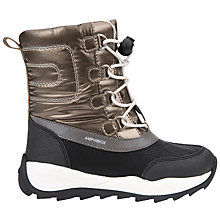 Buy Geox Children's Orizont ABX Lace Boots, Gold/Black Online at johnlewis.com