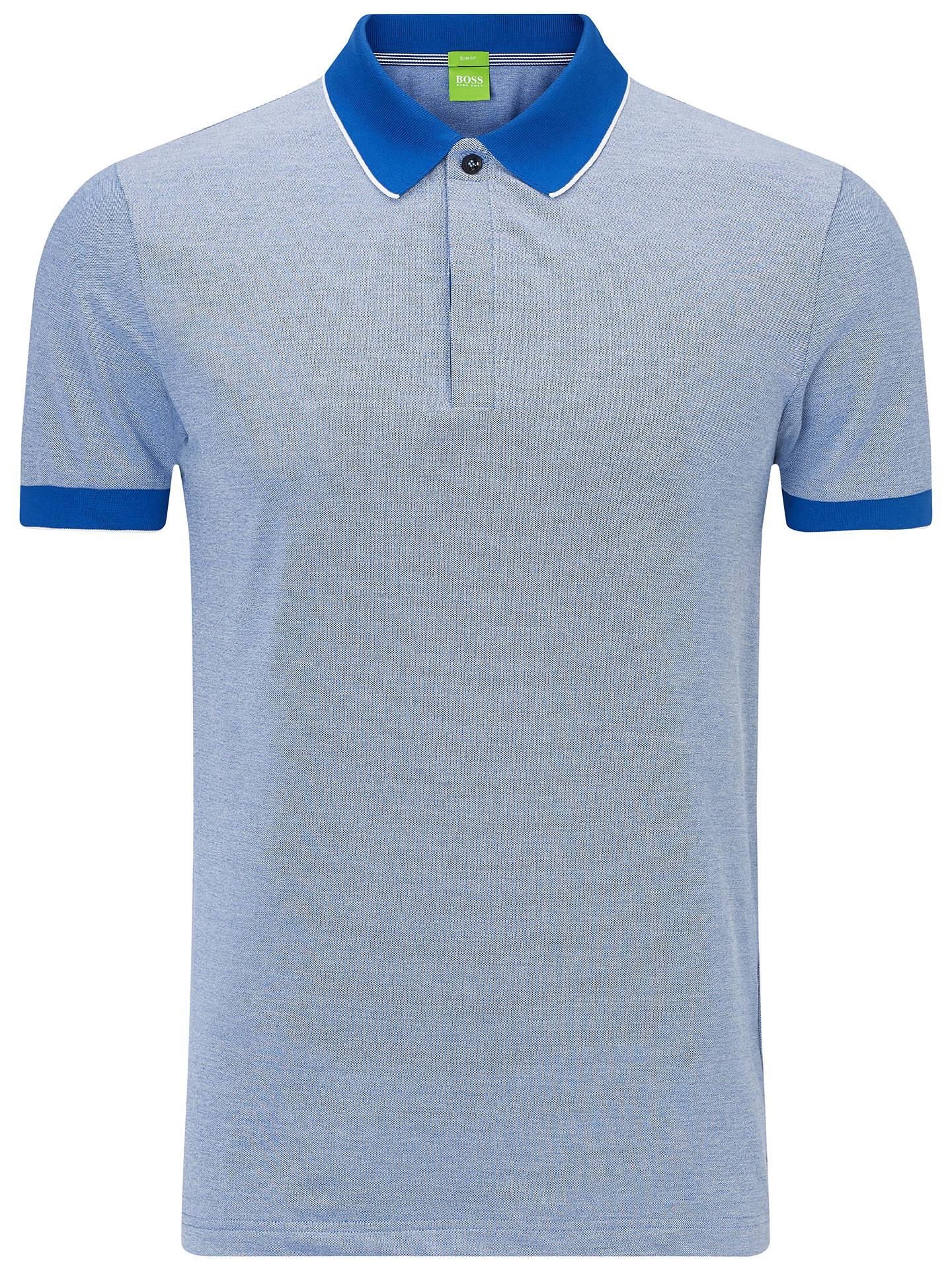 4c723df0 Buy BOSS Green Piro Polo Shirt, Medium Blue, S Online at johnlewis.com ...