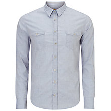 Buy BOSS Orange EdoslimE Shirt, Light Blue Online at johnlewis.com