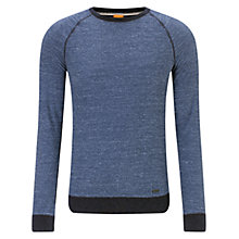 Buy BOSS Orange Willie Sweatshirt, Dark Blue Online at johnlewis.com
