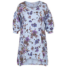 Buy Chesca Floral Print Tunic, Skye Blue/Purple Online at johnlewis.com