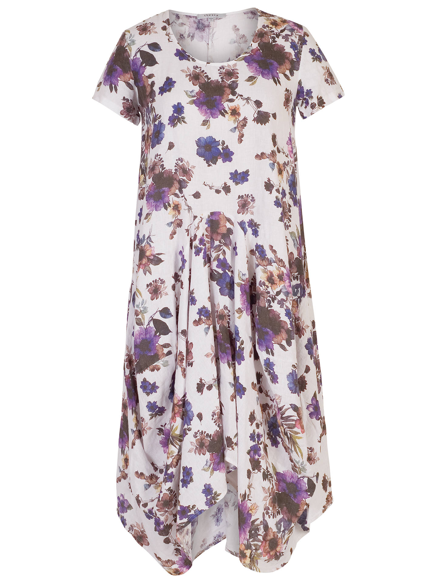 Chesca Floral Print Linen Dress at John Lewis   Partners