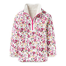 Buy Little Joule Girls' Reversible Floral Jumper, Cream Ditsy Online at johnlewis.com