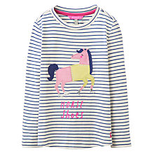Buy Joules Girls' Sequin Heart T-Shirt, Navy/Multi Online at johnlewis.com