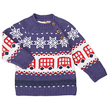 Buy John Lewis Baby Fair Isle Bus Jumper, Blue/Multi Online at johnlewis.com