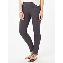 Buy Phase Eight Victoria Triple Zip Jeans, Charcoal Online at johnlewis.com