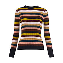Buy Whistles Stripe Rib Knit Jumper, Multi Online at johnlewis.com