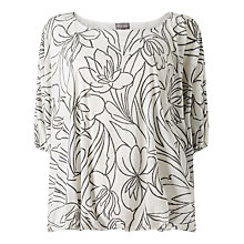 Buy Phase Eight Cecily Jacquard Top, Grey/Ivory Online at johnlewis.com