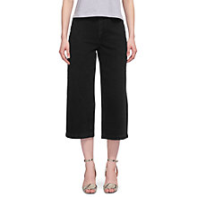 Buy Whistles Washed Wide Leg Cropped Jean, Black Online at johnlewis.com