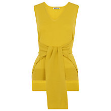 Buy Whistles Tie Front Sleeveless Knit, Yellow Online at johnlewis.com