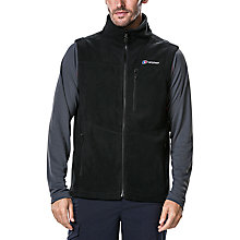 Buy Berghaus Prism Men's Fleece Gilet, Black Online at johnlewis.com