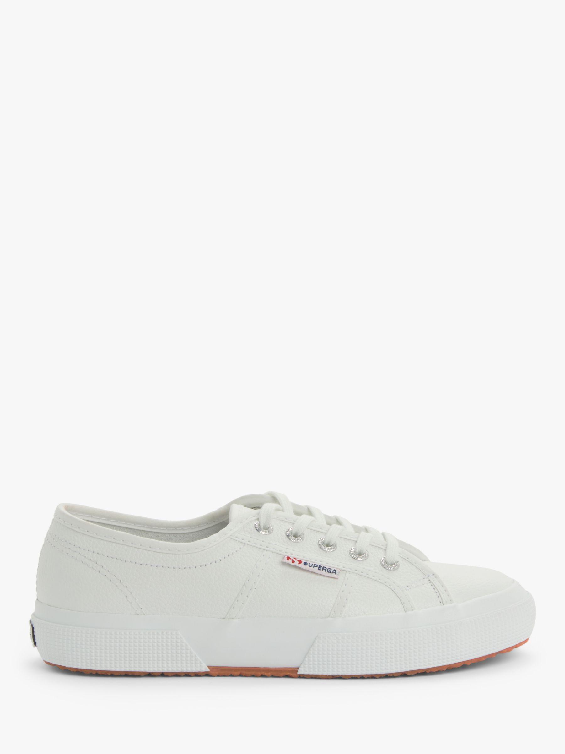 Superga Superga 2750 Efglu Plimsolls, White Leather