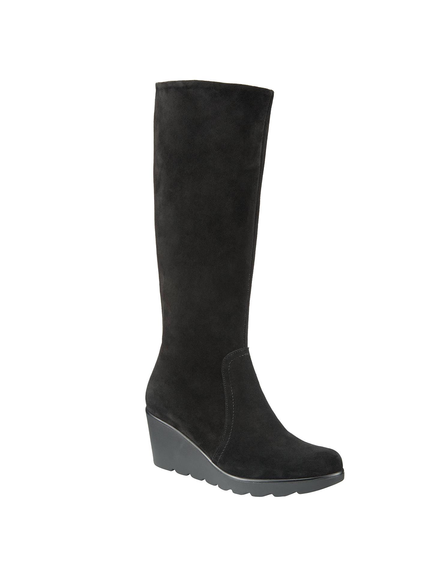 d980c8916df2 BuyJohn Lewis Benin Knee High Wedge Heel Boots