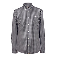 Buy Pretty Green Ebsworth Gingham Shirt, Black Online at johnlewis.com