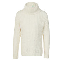 Buy John Lewis Girls' Oversized Jumper, Cream Online at johnlewis.com