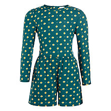 Buy John Lewis Girls' Printed Playsuit, Deep Forest Online at johnlewis.com