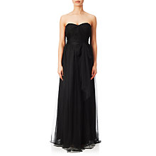 Buy Adrianna Papell Strapless Infinity Tulle Gown, Black Online at johnlewis.com