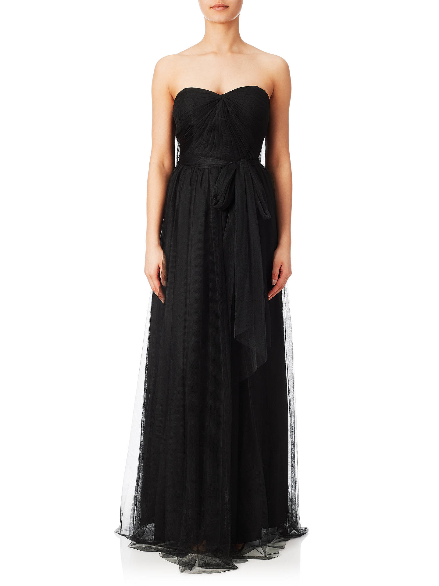 Adrianna Papell Womens Tulle Strapless Gown Dress