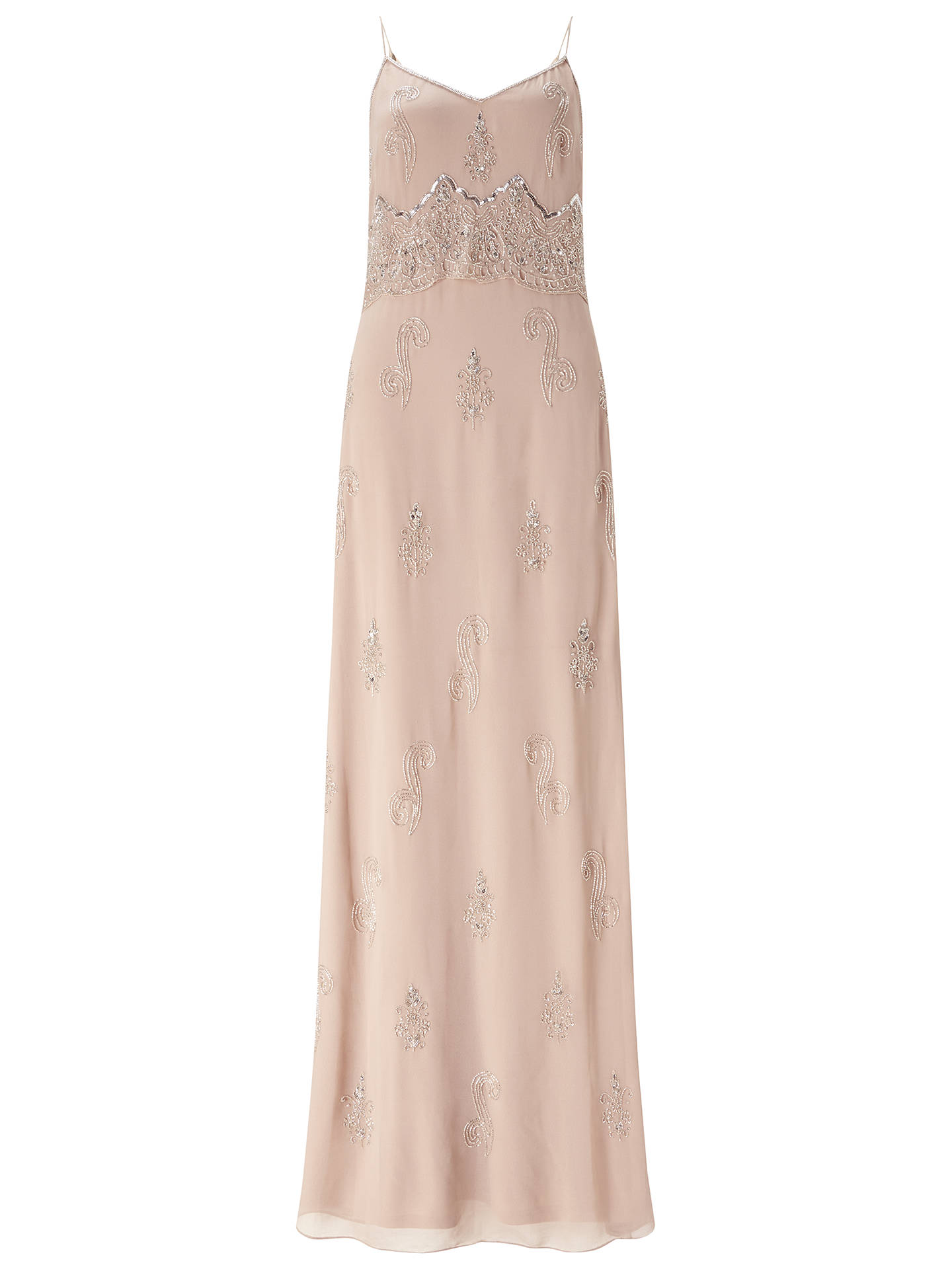 fcf6490a2ba4 Buy Adrianna Papell Sleeveless Beaded Popover Gown, English Rose, 8 Online  at johnlewis.