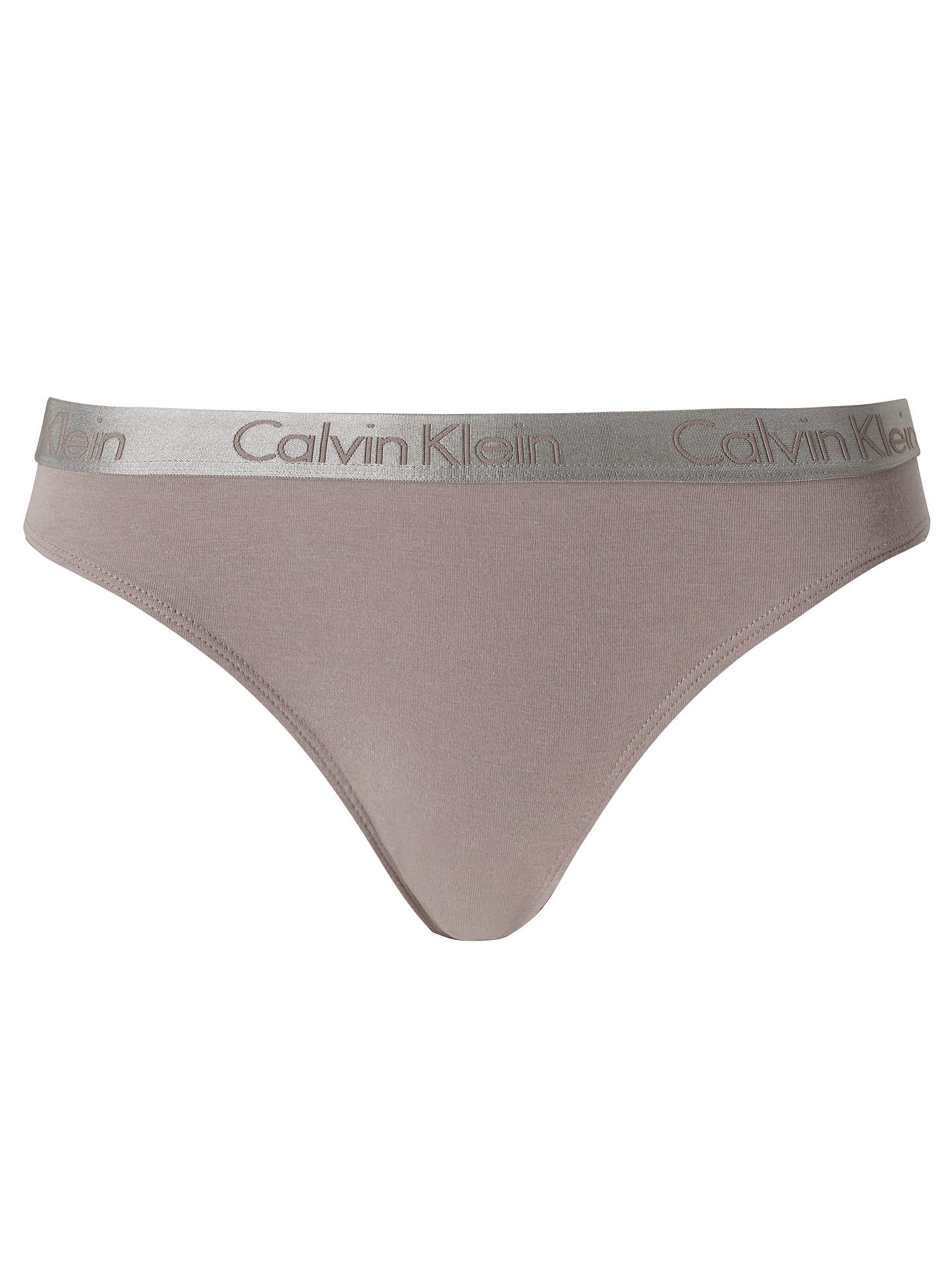 5ddd5e52bbef Buy Calvin Klein Radiant Cotton Bikini Briefs, Grey Sand, S Online at  johnlewis.