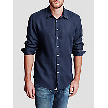 Buy Thomas Pink Miller Linen Casual Fit Shirt, Navy Online at johnlewis.com