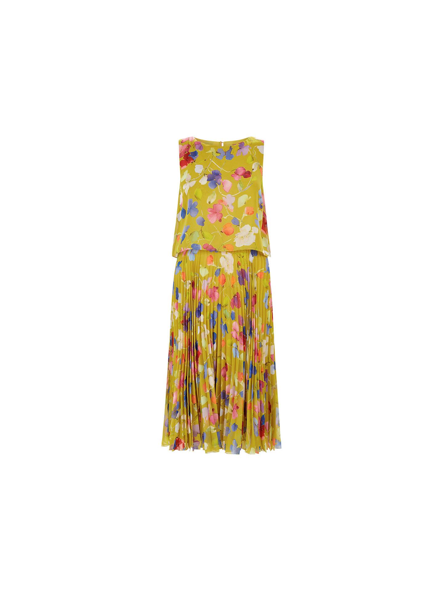 reasonably priced hot products fantastic savings Hobbs Tabitha Dress, Zest Green at John Lewis & Partners