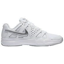 Buy Nike Air Vapor Advantage Women's Tennis Shoes, White/Metallic Silver Online at johnlewis.com
